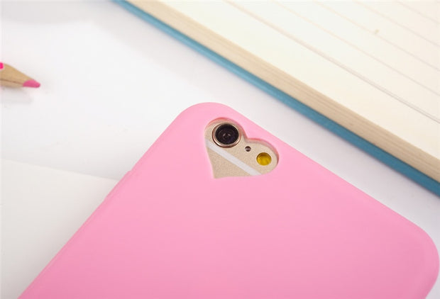 New Fashion Solid Candy Color Silicone Rubber Soft Back Case Cover Skin For Apple IPhone 5 5S SE 6 6S/6 6S Plus 7 7 Plus Case