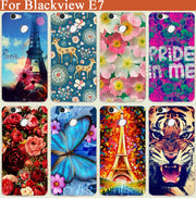 New Painted Rose Flowers Painted Case For Blackview E7 Painting Special Animal Eiffel Tower Phone Cover For Blackview E7