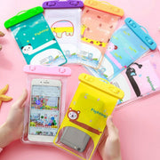 New Universal Mobile Phone Cartoon Waterproof Bag Colorful Animal PVC Seal Waterproof Case