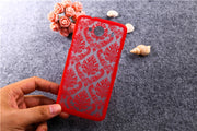 New Painted Hollow Out Flower Styles Hard PC Plastic Cover Cases For ZTE Blade L3 5'' Phone Case Back Cover For ZTE L3 L 3 T007
