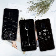 Newest Space Moon Astronaut Phone Cases Soft Silicone For Samsung Galaxy S6 S7 Edge S8 S9 Plus A6 A6 Plus Mobile Phone Cases