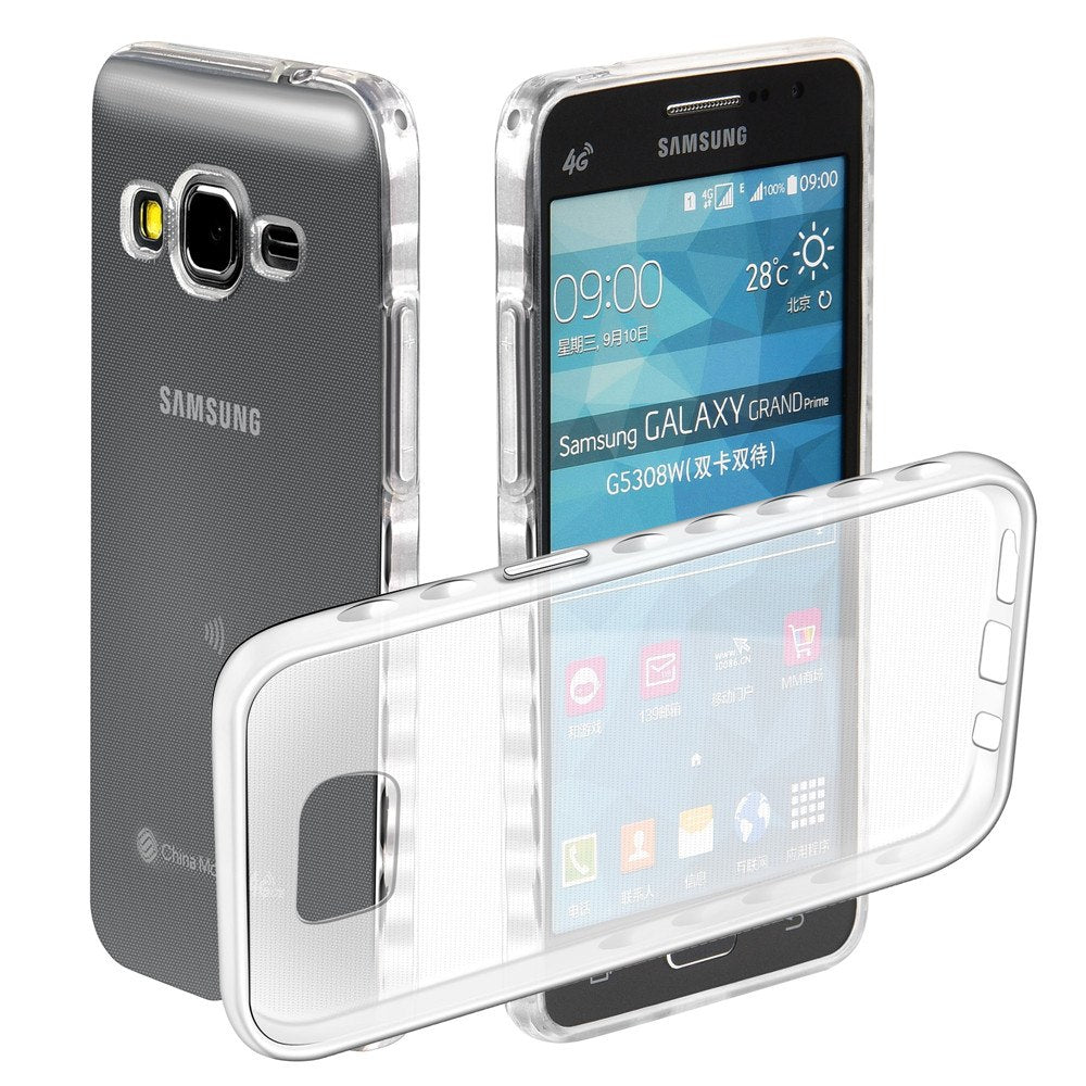 sports shoes ccddc 71e44 Non-slip Soft Cases For Samsung Galaxy Grand Prime 4G LTE SM-G531F Duos  SM-G531F/DS Transparent TPU Silicon Covers Full Housing