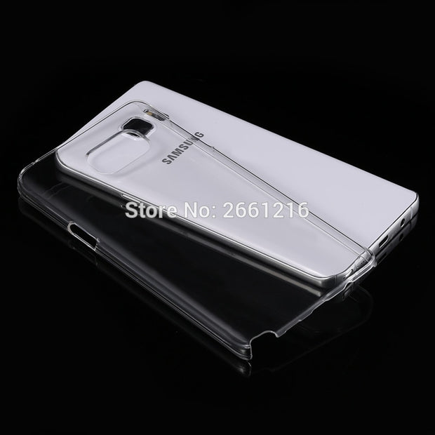 Note 5 N9200 Hard PC Case Ultra Thin Clear Hard Plastic Cover Protective Skin For Samsung Galaxy Note 5 N9200 5.7 Inch