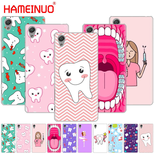 Nurse Doctor Dentist Stethoscope Tooth Injections Phone Case For Sony Xperia Z2 Z3 Z4 Z5 Mini Plus Aqua M4 M5 E4 E5 E6 C4 C5