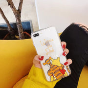 ORYKSZ 3D Transparent Cartoon TPU Case For IPhone X Case For IPhone 6 6S 7 8 Plus Case Cute Animal Cartoon Anti Knock Cover