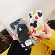 ORYKSZ 3D Transparent Mickey Soft TPU Case For IPhone X Case For IPhone 6 6S 7 8 Plus Case Cute Animal Cartoon Anti Knock Cover