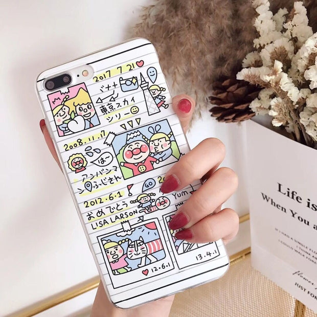 ORYKSZ Case For IPhone 6 6s 8 Plus Cases Luxury Transparent Cute Cartoon Silicone Tpu Cover For IPhone 7 7Plus X 10 Back Coque