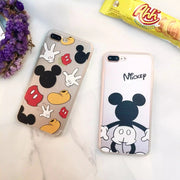 ORYKSZ For IPhone X Case Cartoon Lovely Transparent Phone Cover For IPhone 6 6s 7 8 Plus Case Fashion Mickey Patterned Cases