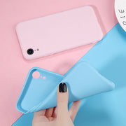 Ottwn TPU Case For IPhone X XR XS Max Phone Case Candy Color Solid For IPhone 8 7 6 6s Plus 5 5s SE Soft Silicon Back Cover Case