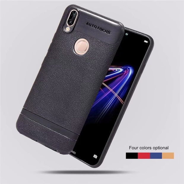 P20lite Case On For Huawei P20 Lite Case Luxury Soft TPU Leather Cover For Huawei P20 Pro Case Full Cover Cases Coque Fundas