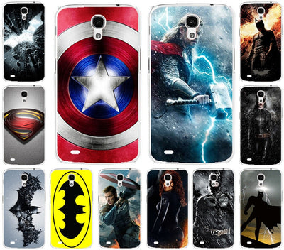 Painted Case For Samsung Galaxy Mega 6.3 I9200 9200 Cool Batman Superman Captain America Pattern Phone Case Cover Shell