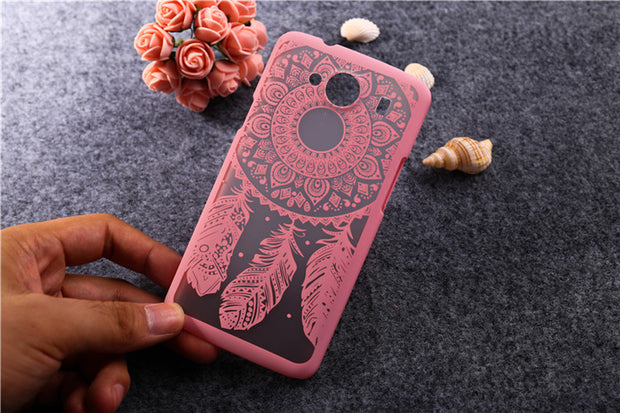 Painted Dream Catcher Flower Design Painted Hard Plastic Cases For ZTE Blade L3 (5.0inch) Phone Back Cover For ZTE L3 Case T006