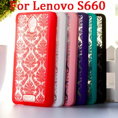 Painted Hollow Out Flower Colored Case For Lenovo S660 Cover Hot Selling Fashion Drawing Case For Lenovo S660 Phone Covers T007