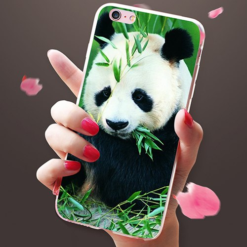 Panda Print Phone Case Cover For IPhone 5 6 6S 7 Plus