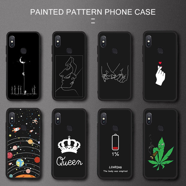 Pattern Protective Case For Xiaomi Redmi Note 6 Pro 5A 4X S2 Mi A2 Lite 6X A1 Max3 Mix3 Mi8 Phone Housing TPU Back Cover Coque
