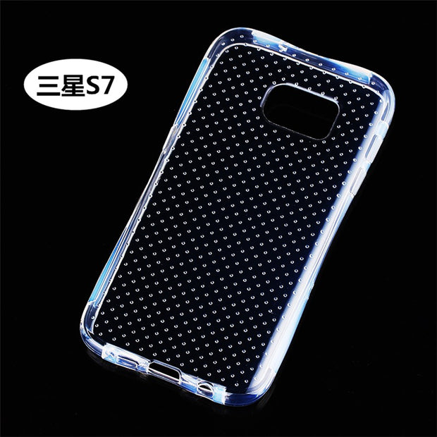 Phone Case For Clear Anti Knock Drop Proof Protective Soft TPU For Samsung Galaxy S7 Mobile Phone Housing With Spot Fashion