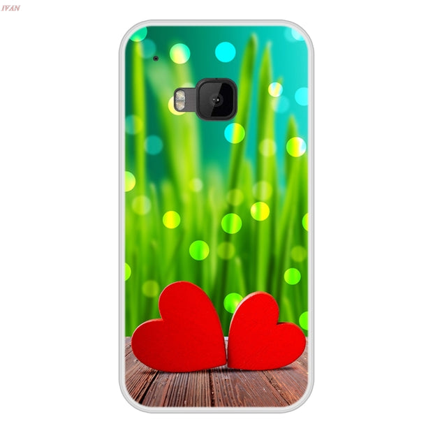 Phone Case For HTC One M9 Soft Silicone TPU Chic Pattern Paint For HTC One M9 Cases