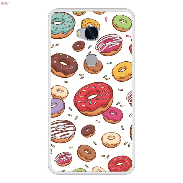Phone Case For Huawei Honor 5X Soft Silicone TPU Cute Pattern Painting For Huawei Honor 5 X Case