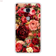 Phone Case For Huawei Honor 5X Soft Silicone TPU Floral Flower Pattern Painting For Huawei Honor 5 X Cases