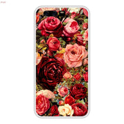 Phone Case For Huawei P10 Soft Silicone TPU Floral Flower Patterned Paint Coque For Huawei P 10 Cases