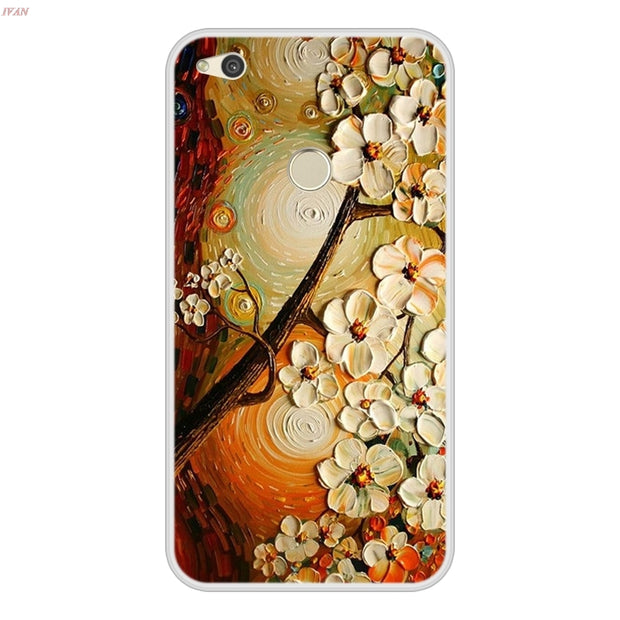 Phone Case For Huawei P8 Lite 2017 Soft Silicone TPU Chic Pattern Print For Coque Huawei P8Lite 2017 P 8 Lite 2017 Case Cover