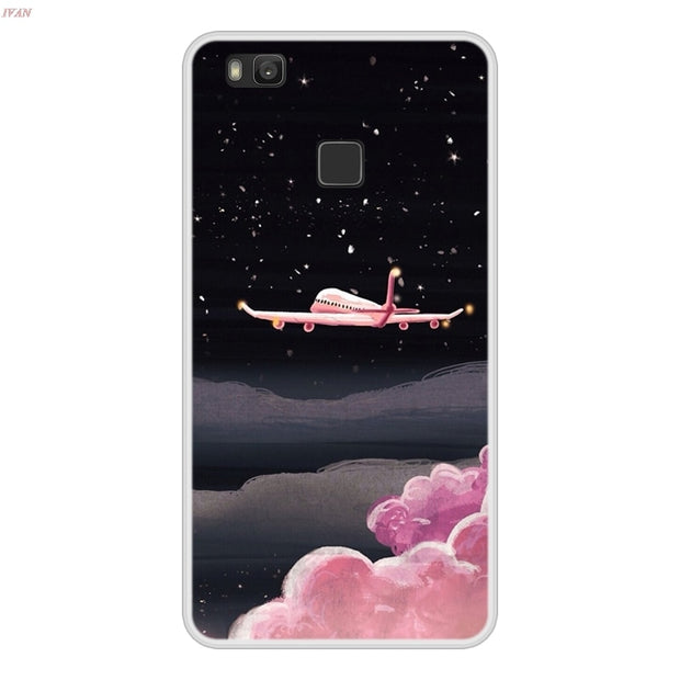 Phone Case For Huawei P9 Lite P 9 Lite Soft Silicone TPU Cool Design Pattern Painted Coque For Huawei P9lite Case Cover Funda