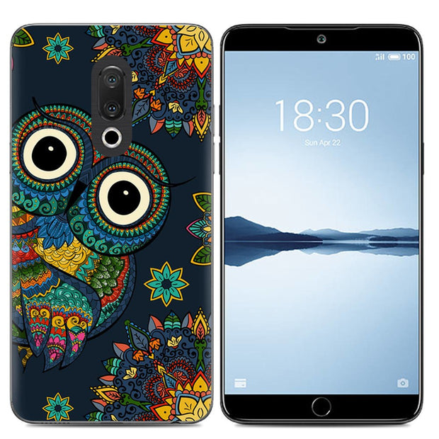 Phone Case For Meizu 15 5.46-inch For Meizu 15 Plus 5.95-inch Fashion Design Art Painted TPU Silicone Cover Soft Case