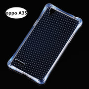 Phone Case For OPPO A35 Clear Anti Knock Drop Proof Protective Soft TPU For OPPO A35 Mobile Phone Housing With Spot