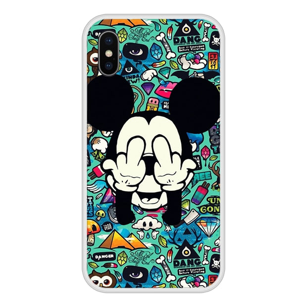 Phone Case For One Plus 3 3T 5 5T 6 6T Soft Silicone TPU Mickey Minnie Patterned Painting For OnePlus 6 6T 5 5T 3 3T Cases