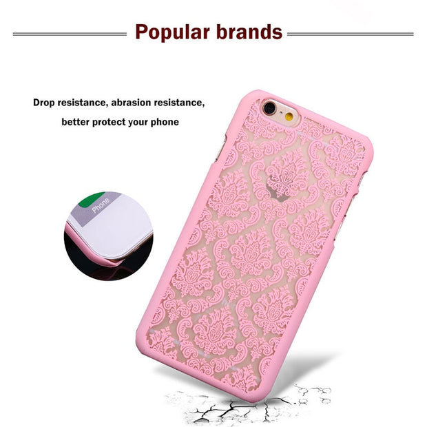 Phone Case For Oneplus 6 One Plus 6 Cover Damask Vintage Flower Floral Plastic Funda For Oneplus 5T 5 2 1 One Two X Cover Capa