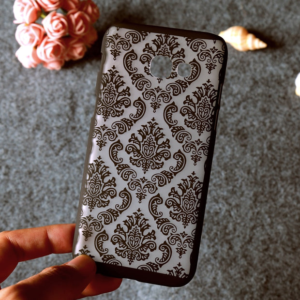 Phone Case For Samsung Galaxy A6 Cases A6 Plus 2018 Cover Floral Plastic Funda For Samsung A5 2017 A3 2016 A7 Xcover 4 Fundas