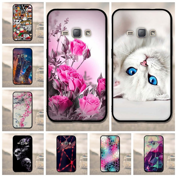 Phone Case For Samsung Galaxy J1 2016 Case Soft TPU Cover Silicon For Samsung J1 2016 J120F J120H 4.5inch Cover 3D Fundas Coque