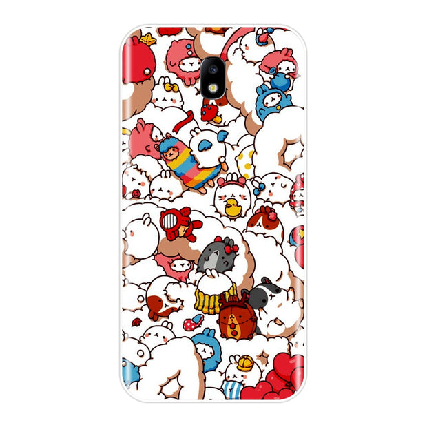 Phone Case For Samsung Galaxy J3 J4 J5 J6 J7 2016 2017 Soft Silicone Cute Unicorn Back Cover For Samsung J2 J5 J7 Prime Case