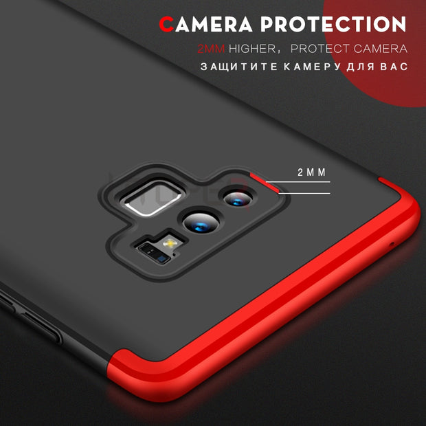 Phone Case For Samsung Galaxy Note 9 Case 360 Hard Cover For Samsung A6 2018 Coque For Galaxy S9 S8 A8 Plus Note8 J4 J6 Prime A7