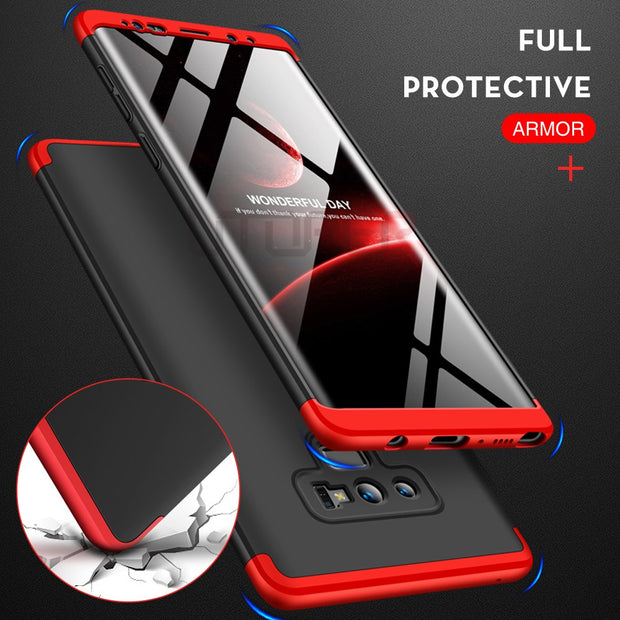 Phone Case For Samsung Galaxy Note 9 Case 360 Hard Cover For Samsung A6 2018 Coque For Galaxy S9 S8 A8 Plus Note 8 J4 J6 PrimeA7