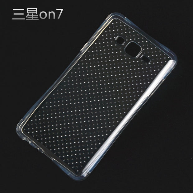 Phone Case For Samsung Galaxy On 7 Clear Anti Knock Drop Proof Protective Soft TPU For Galaxy ON7 Mobile Phone Housing With Spot