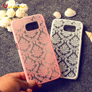 Phone Case For Samsung Galaxy S8 S9 S7 S6 Edge Plus S5 S4 S3 S2 Cover Floral Plastic Funda For Samsung Note 8 5 4 2 3 Mini Coque