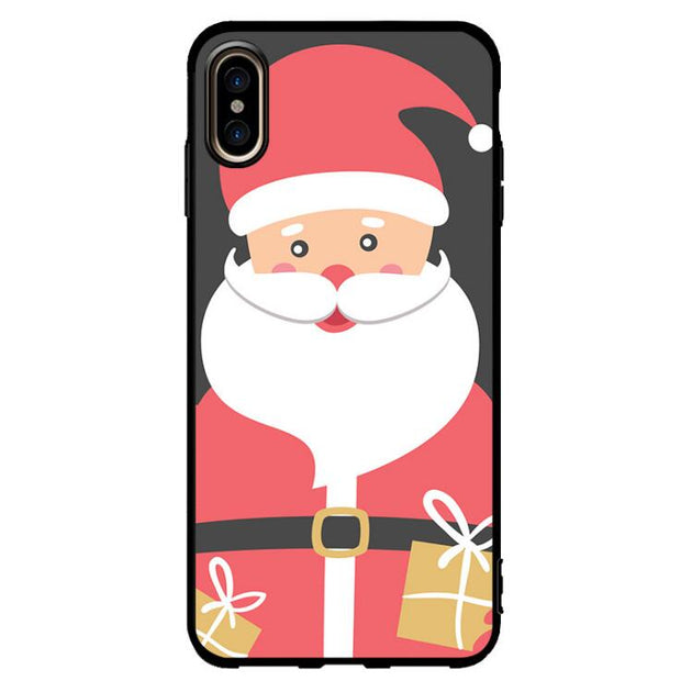 Phone Case For IPhone 6 6s 7 8 Plus Cute Cartoon Christmas Santa Claus Elk Soft TPU For IPhone X XS MAX XR Silicone Cover