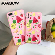 Phone Case For IPhone 7 8 6 6S Plus Cute Fruit Pineapple Strawberry Print Pattern Cases For IPhone X Hard PC Full Cover Shell