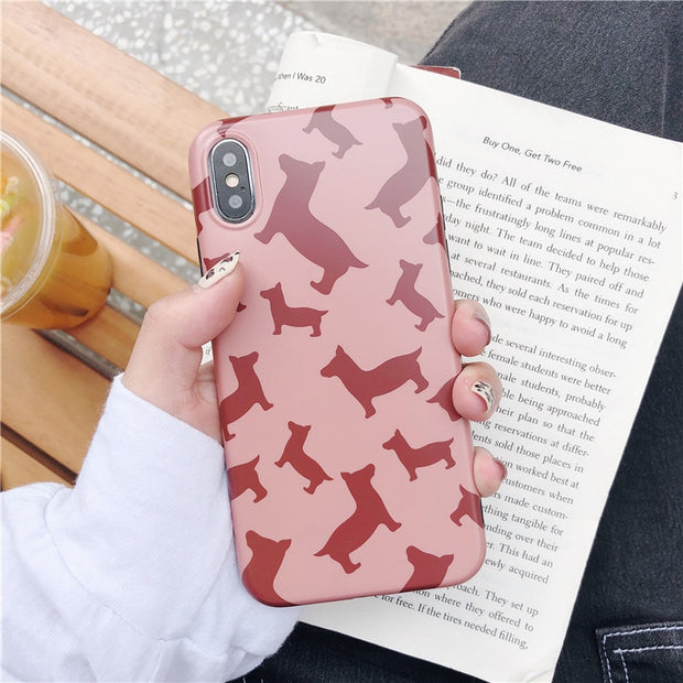Phone Case For IPhone 7 Xr Xs Max Case Cover Silicone TPU Matte Cases For IPhone 8 7 Plus X 6 6S Plus Soft IMD Case Coque Capa