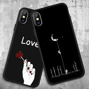 Phone Case For IPhone XR XS Max X 7 8 6 6S Plus 5 5S SE Soft TPU Matte Cases Plant Space Quotes Moon Pattern Cover Coque