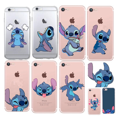 Phone Case For IPhone 7 Stitch Lovely Coque For Iphone 8plus 7plus X XS 8 6 6s 5 5s Se Fashion Soft TPU Silicon Cover Capa