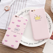 Phone Case For Iphone 5 5s SE 6 6s 7 PLus Princess Crown Girl Cute Cartoon Design Printing Soft Silicone Case For Iphone 5s Case