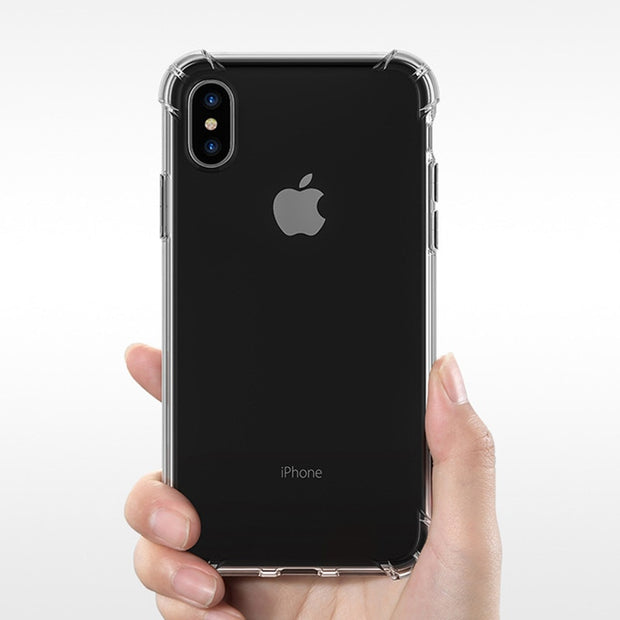Phone Case On For Iphone XS XR XS Max Luxury Shockproof Soft Silicone TPU 360 Full Cover For Iphone 5 5S SE 6 6S 7 8 Plus X Case