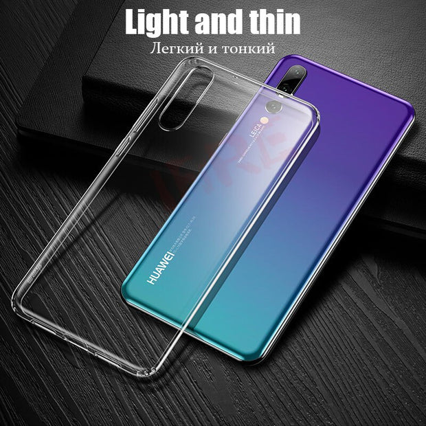 Phone Cases For Huawei P20 Pro Case Nova 3E Transparent Soft TPU Silicon Back Cover For Huawei P20 Lite Nova3e Protective Shell