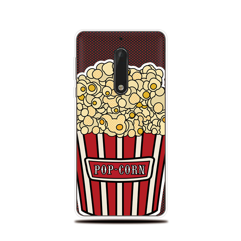 Phone Case For Nokia 3 5 6 8 Soft Cover Fruit Chocolate Pattern ...