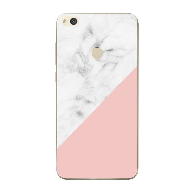 Pink Ink Marble For Huawei P20 Lite Case Cover Soft Silicone TPU Cover Back Phone For Huawei P8 P10 P9 Lite Mini 2017 Case