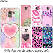 Pink Victoria Secret Hot Fashion Hard Phone Cover Case For Samsung J2 J3 J5 J4 J6 J7 J8 2018 2016 J7 2017 EU J6 Prime Cover