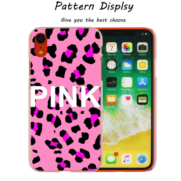 356cd7342f Pink Victoria Secret Hot Fashion Transparent Hard Phone Cover Case For IPhone  X XS Max XR