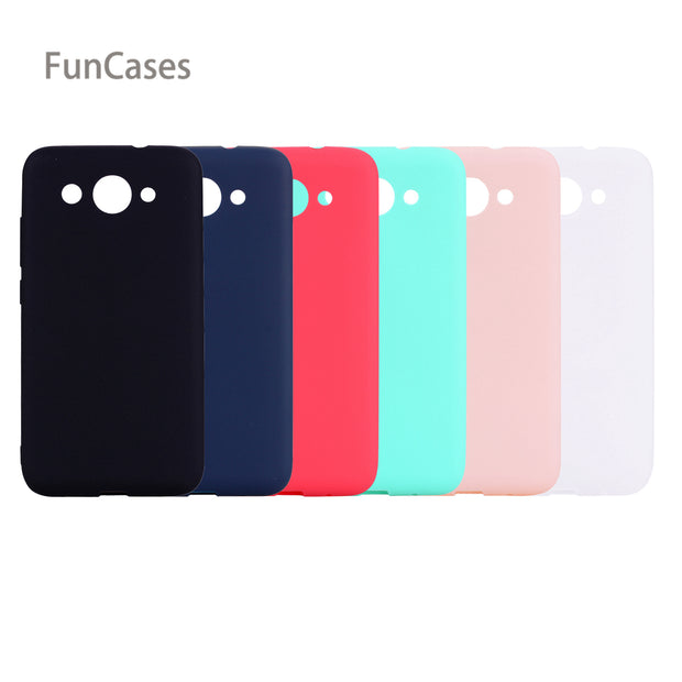 cheaper caf13 3b443 Plain Case SFor Celular Huawei Y3 2017 Soft Silicone Back Cover Capinhas  Patterned Silicone Cover SFor Huawei Ascend Y3 2017 Bag
